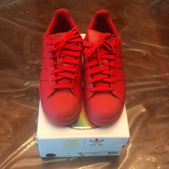 huge discount 6c606 08fea Adidas Originals Pharrell Superstars Red